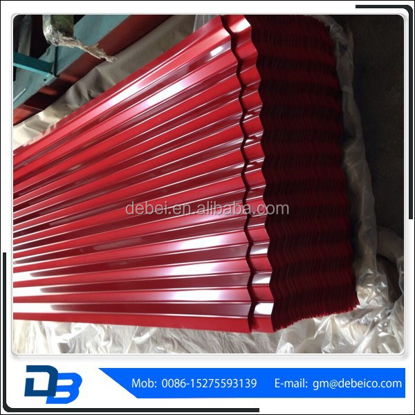 Red Color Steel Building Materials Roofing Tiles