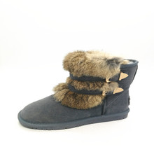 Fashionable Cow suede leather snow boots ladies footwear boots for women and girls
