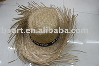 nature color 100% straw fashion men's hat