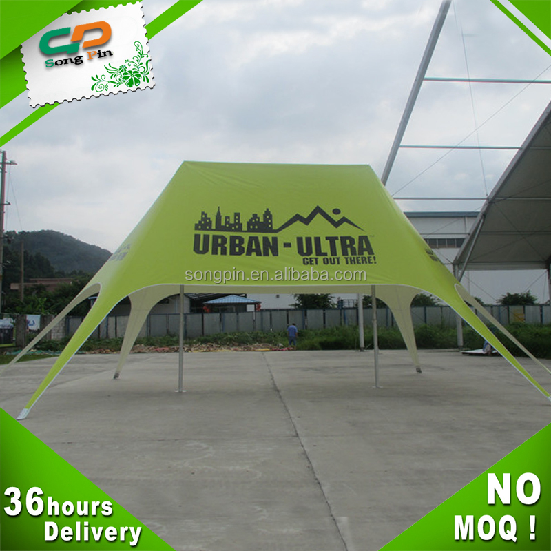 Logo printing outdoor advertising double pole star tent for event