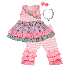 Kids clothes girls two piece dress set wholesale children's boutique clothing
