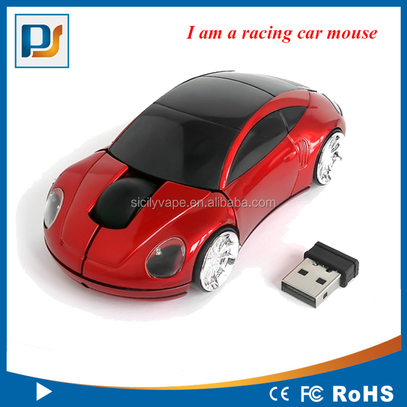 2.4G Classic Car design mouse with logo put on both door suitable for gifts