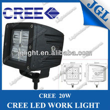 4 LEDS 20W HIGH POWER LED WORK LIGHT LAMP TRUCK SUV 4X4 JEEP OFFORAD DRIVING PENCIL BEAM LIGHT 3""