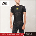 Rashguards Mens / Short Sleeve / Lycra / Polyester Rashguards / Scene