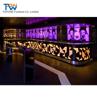 2018 modern design led wooden bar counter used nightclub furniture