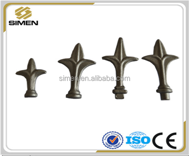 popular wrought iron railhead made in China