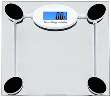 2008c super slim digital bathroom scale weighing scale with backlight LCD display