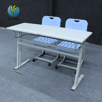 cheap price 2 seat school desks and chair set