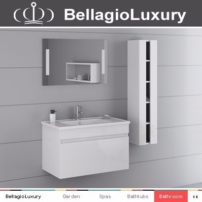 PVC glossy Bath cabinet, glass top bathroom cabinet, europe style furniture