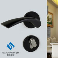 Modern Style Interior Door Lock Door Panel Handle Lock With Key
