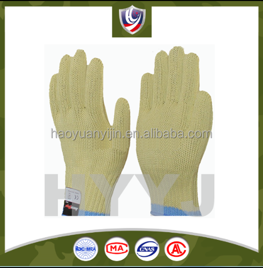 Aramid Knitting Gloves / knitted aramid cut resistant glove / 3m cut resistant gloves