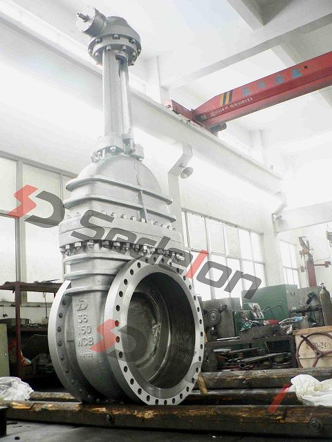 Motorized Gate Valve DN900 PN100 Big Size Gate Valve