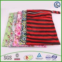 happy flute Wet Bag 2 Zippered Compartments Waterproof Great For Cloth Diapers & More Wet Dry Bag