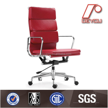 High Back Soft Pad Leather Chair, Contemporary Leather Chairs, Modern Executive Leather Chair DU-366H