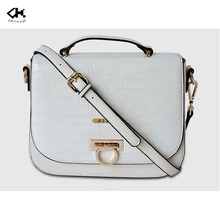 Fashion party bag plain white women PU shoulder bag brand