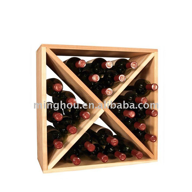 24-Bottle Compact Cellar Cube Wine Rack