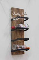 Wall Mounted Four Wine Bottle Holder
