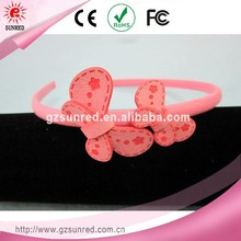 Pink Thin Plastic Kids Hair Band/ Headbands