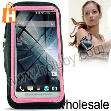 Sports Gym Armband Case for HTC One M7 With Earphone Hole