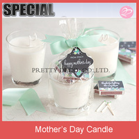 Glass cup Mother's Day Candles with match set