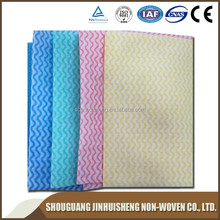 Spunlaced nonwoven disposable wipes with high quality