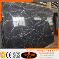 Wholesale interior design natural stone black wood marble tile