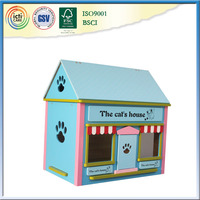 2016 wooden dog house with beautiful picture,child's toy projector