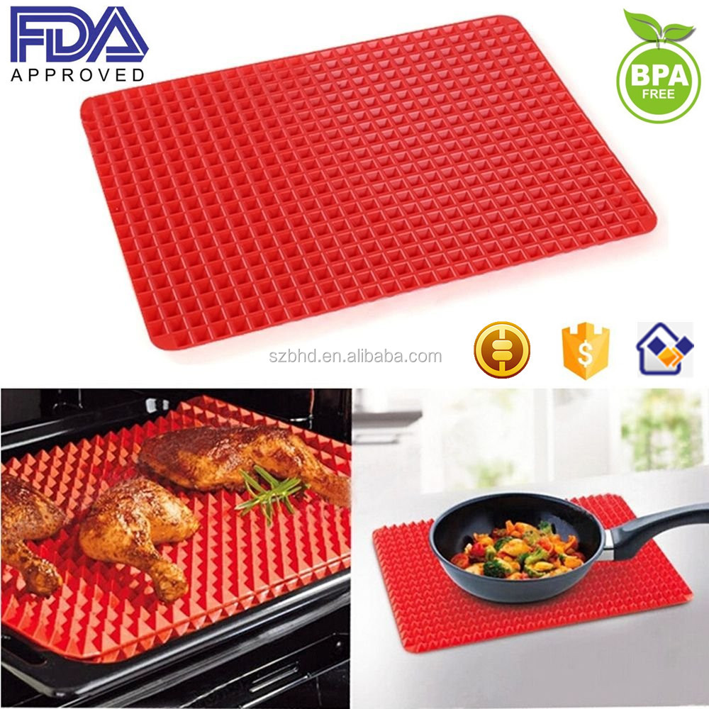New Arrival Healthy Premium Non Stick Silicone Baking Sheet - Raised Pyramid Baking Mat