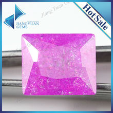 Fine dark rose red rectangle princess cut artificial diamond ice flower stone cubic zirocnia CZ