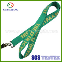 Promotion nylon textile silkscreen printed neck lanyard with ID badge holder for event/meeting souvenirs from china wholesale