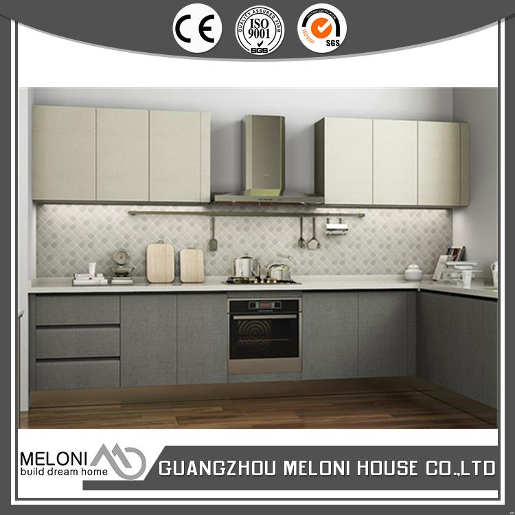 Latest fashion luxury white modern design melamine kitchen cabinet