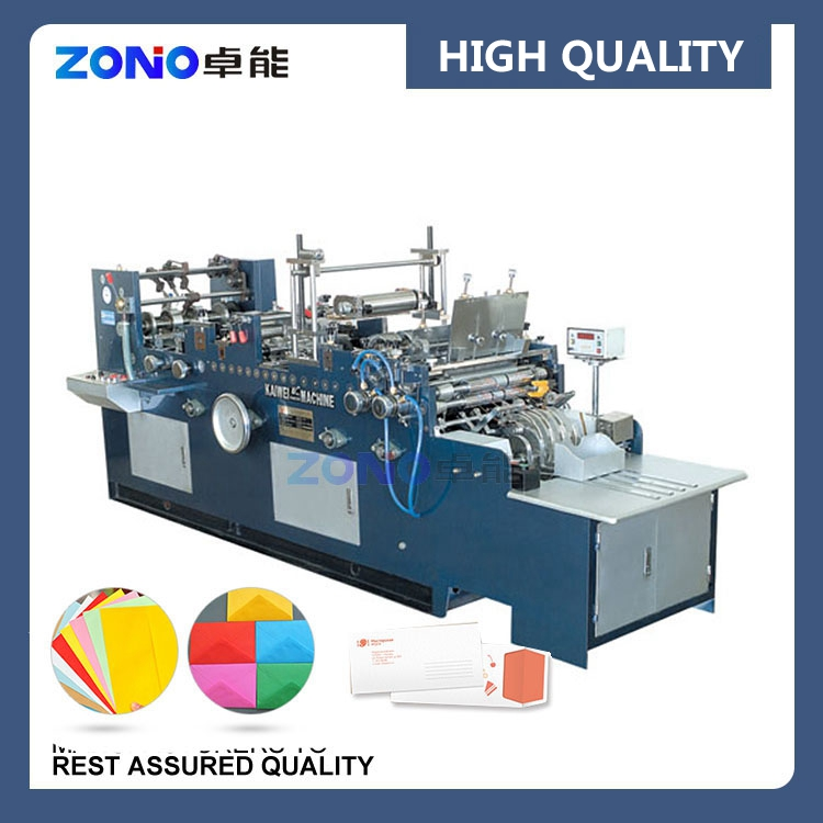 ZNXF388A Full Automatic Glass M Shape Envelope Folding Gluing Machine