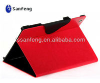 2013 new product pure color leather case for ipad 4/best selling notebook stand case for ipad 4/for ipad 4 leather case