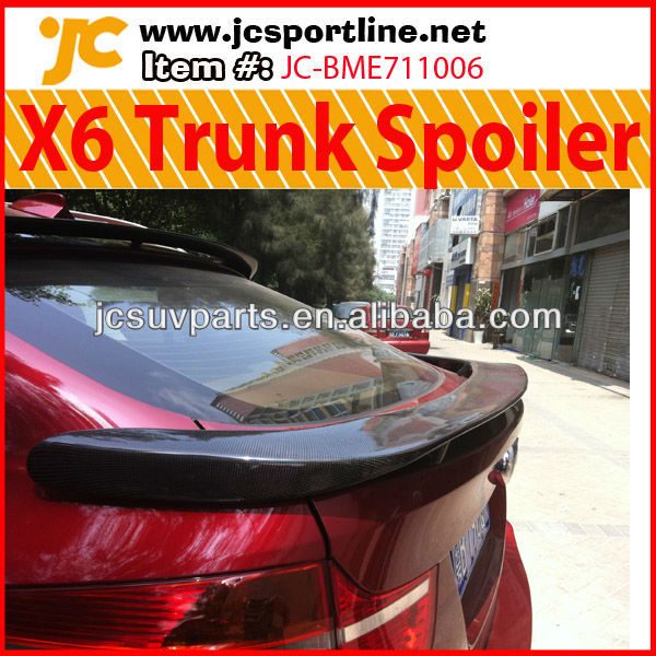 For BMW X6 E71 Rear Trunk Spoiler HM Style Carbon Trunk Spoiler