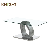 High quality high gloss luxury furniture hobby lobby movable glass small living room fancy convertible coffee table