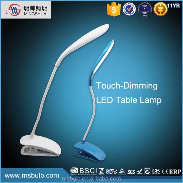 Dongguan Factory LED Lighting 600mAh DC5V Flexable LED Clamp Lamp