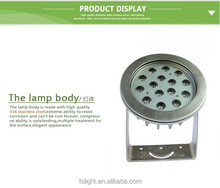IP68 Round cree underwater offroad mini led spot light for fountain ,pool