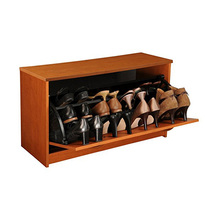 Cube Storage Bench with Cushion Seat MDF Wood Shoe Organizer Shoe Rack Home Entryway Storage Bench