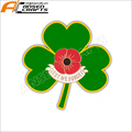 Poppy Shamrock Badge Pin