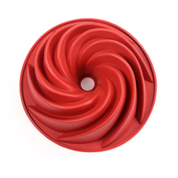 Large Spiral Cake Halloween pumpkin cake mold silicone mold fondant cake tools
