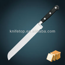 "Professional stainless steel blade forged POM handle 9"" kitchen Bread knife"
