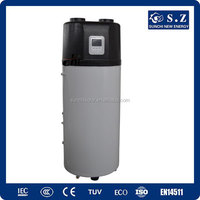 Germany,France type home sanitory 60deg.C hot water save 70% power 3.5KW 150L,200L,260L r134a all in one heat pump bathroom unit