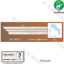 EP-86077 PU foam polyurethane square ceiling medallions exterior window cornice craft wood decorative moulding