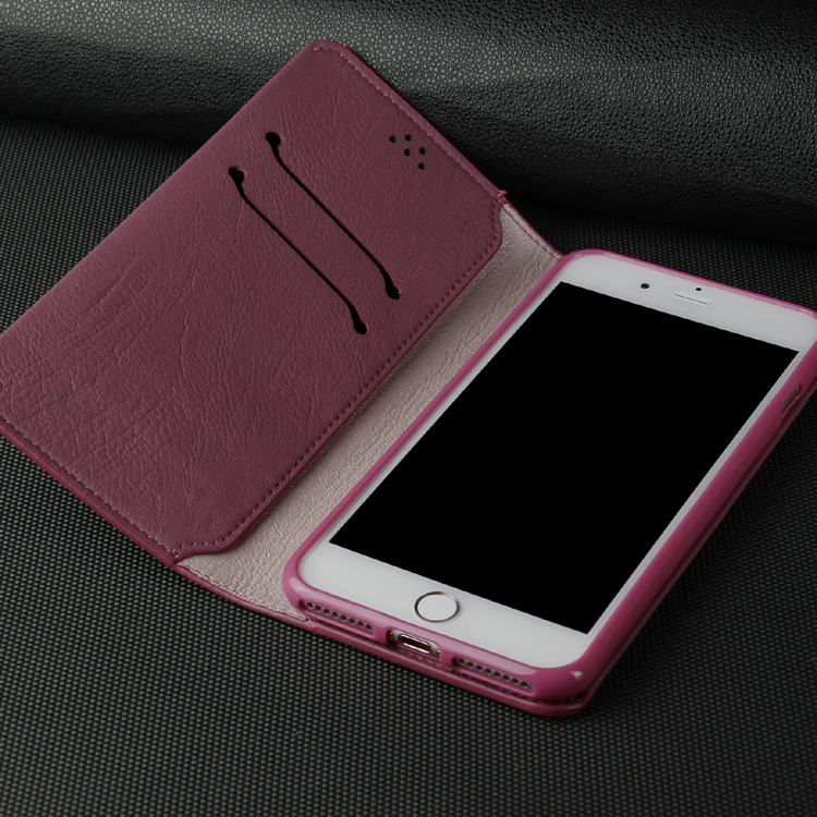 FASHION PINK PU LEATHER MOBILE PHONE CASE FOR IPHONE 7 PLUS