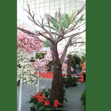 long lasting durable fiberglass big tree cheap artificial trees without leaves for sale