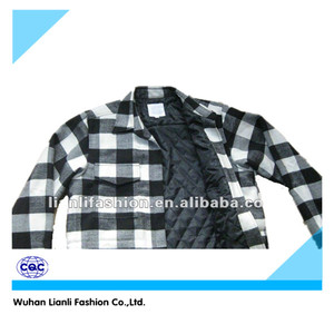 padded mens winter warm plaid shirt with flannel