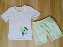 kids shirt summer children fish printed white top wholesale kids clothes