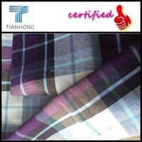 cotton plaid shirt fabric/men dress shirts cotton fabric/China cotton shirt fabric