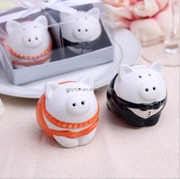 Black and orange color pig Salt&Pepper Shakers Party Favors and Gifts