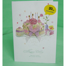 High quality best wishes happy birthday card WITH your own greeting sound
